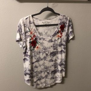Hollister Tie-dye Embroidered Tee